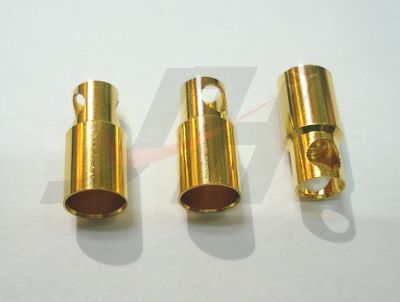 6mm Gold Bullet Connectors - Female