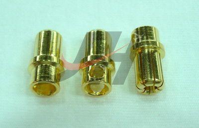 8mm Gold Bullet Connectors - Male